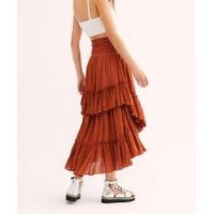 Free People Convertable Skirt in Myrrh